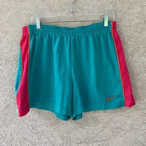 Nike Dri-Fit Shorts teal athletic  Women's XL